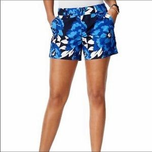 Tommy Hilfiger Blue Floral Twill Chino Shorts